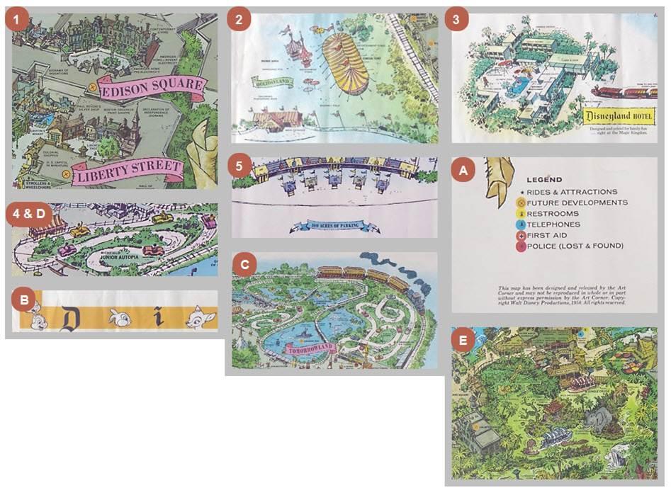 1958a Disneyland Map Details