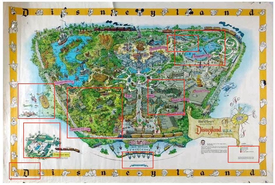 Disneyland Map 2013 1958a disneyland map