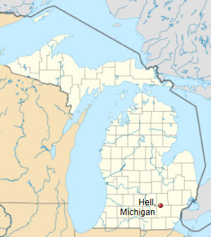 Hell Michigan Map | Park Map