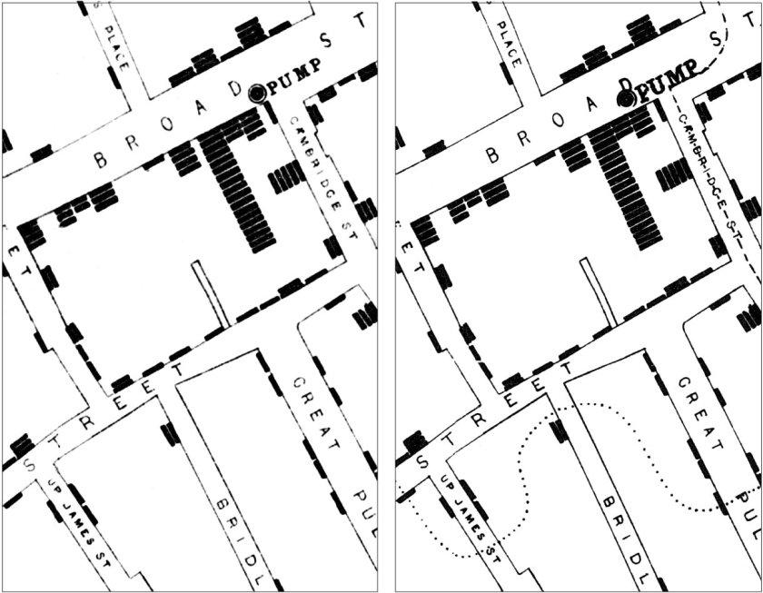 Snow's Spot Map - Detail
