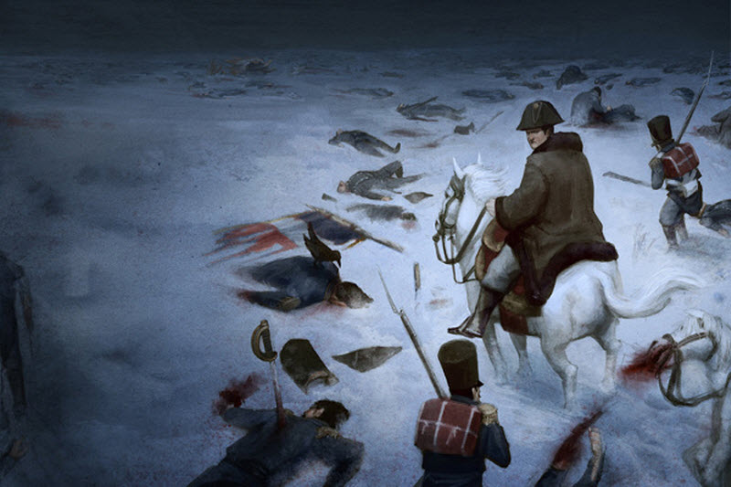 a history of napoleon bonapartes russian campaign of 1812 1812: berezina – napoleon's army escapes across the ice in june 1812 napoleon bonaparte a painting of napoleon during his russian campaign.