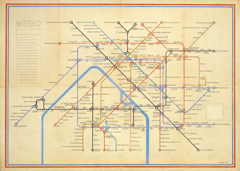 Henry Beck's Paris Metro Map