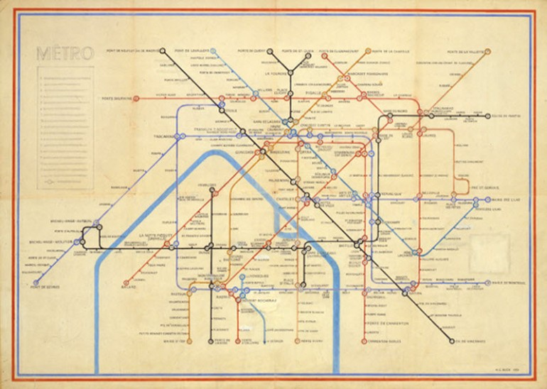 Henry Beck's Paris Metro Map