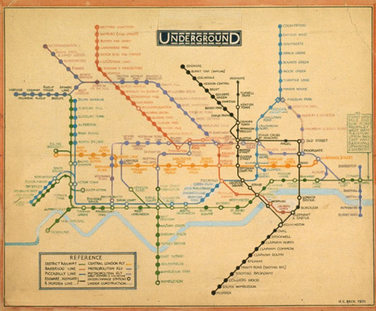 London Underground - Beck's Original Drawing