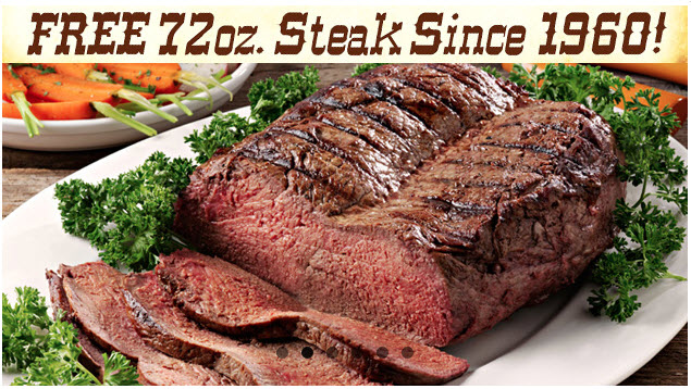 72 oz Steak