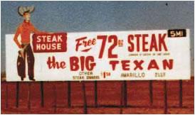Big Texan Old Billboard