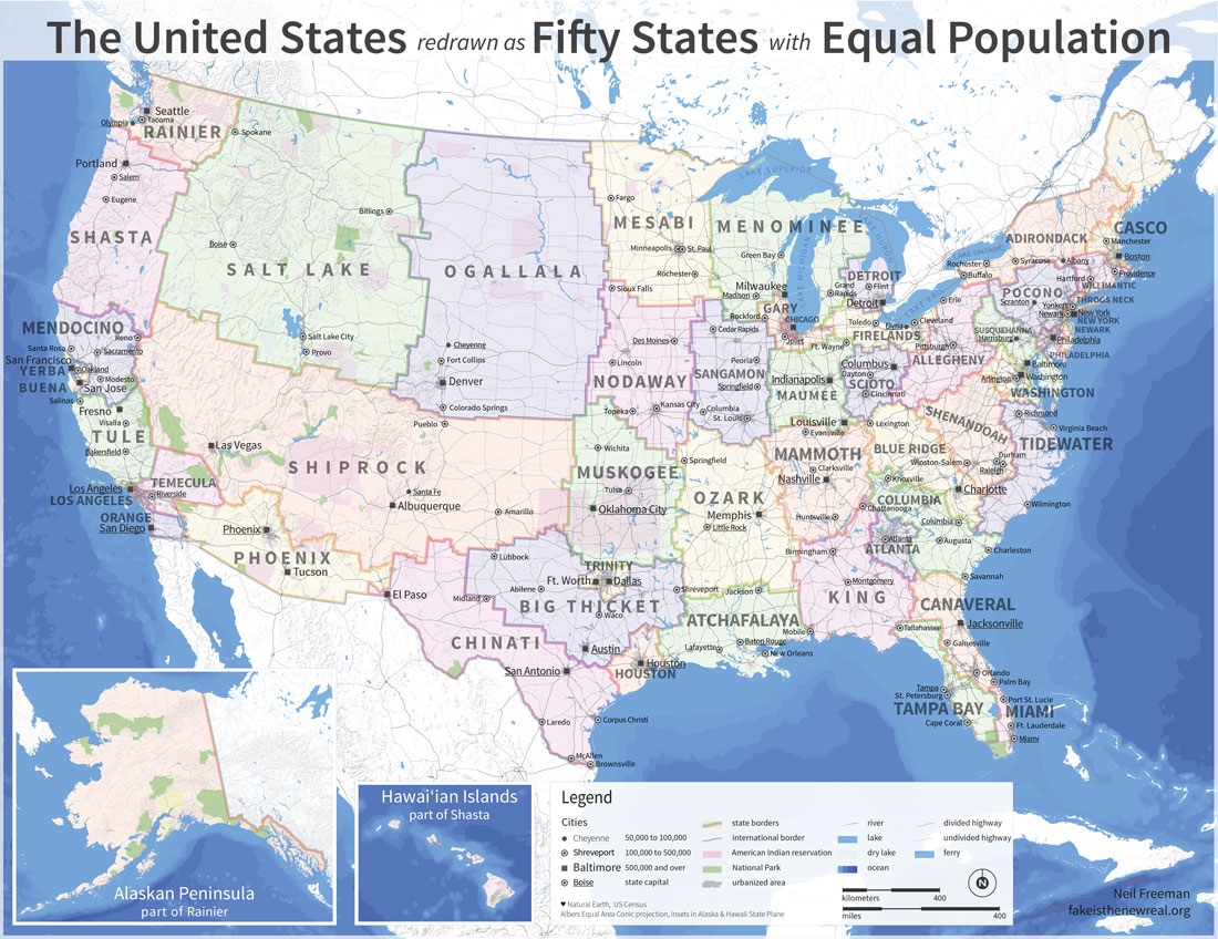 Electoral College Reform What The US Map Would Look Like If - Microstrategy us county map