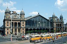 The Budapest-Nyugati station.