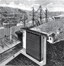 Illustration of Eiffel's lock design from a contemporary magazine.