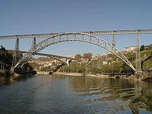 The Maria Pia Bridge.