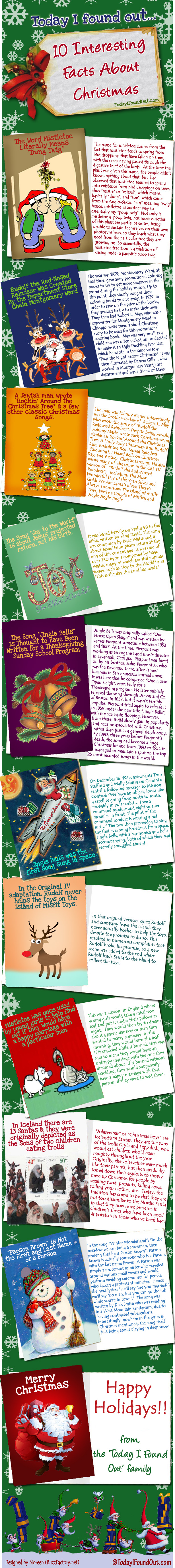 Day Four of My Seven Days of Christmas Infographics: History of ...