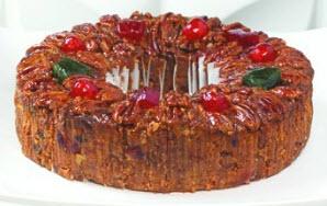 Large Sliced Deluxe Fruitcake