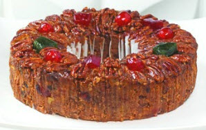 Large Sliced Deluxe Fruitcake