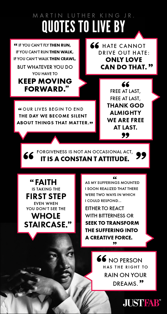 Martin Luther King Jr Quotes About Love Inspiration Infographic Martin Luther King Jr Quotes To Live By Michael