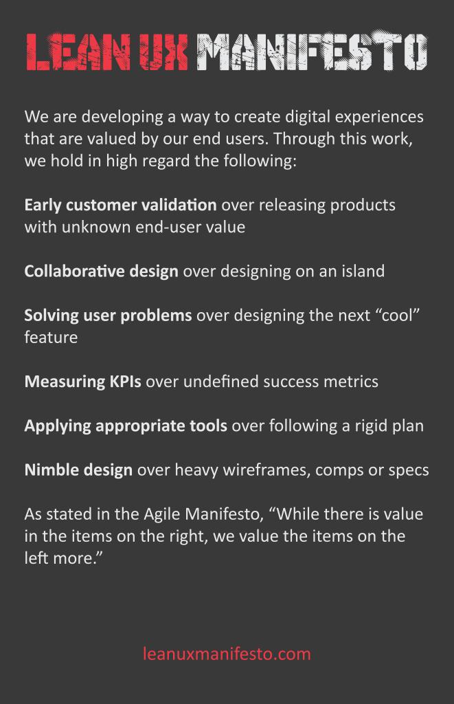 Lean UX Manifesto