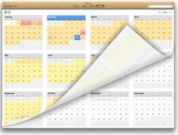 Skeuomorph Calendar
