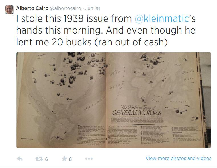 Alberto Cairo GM Tweet