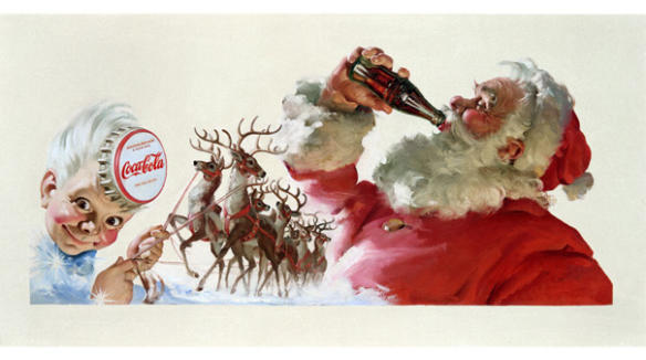 DataViz as Art: Santa Claus and Coca-Cola Through the Years
