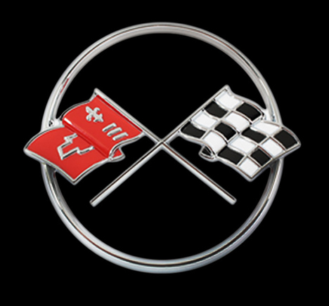 1962 Corvette Crossed Flag Logo