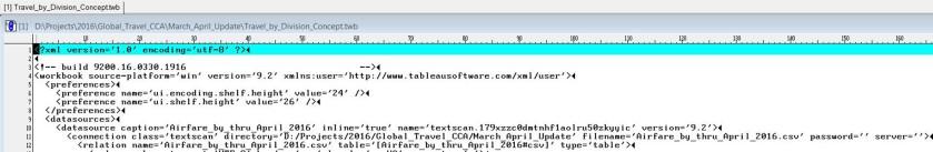 twb XML Code - 2