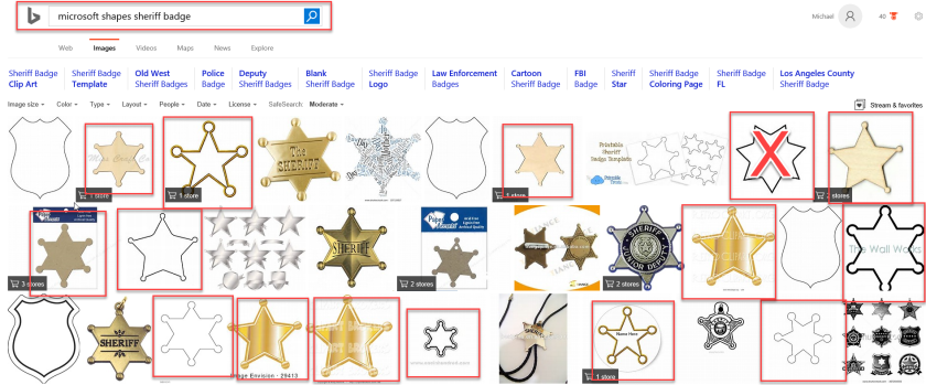 Bing Search - Sheriff Badge Other Options