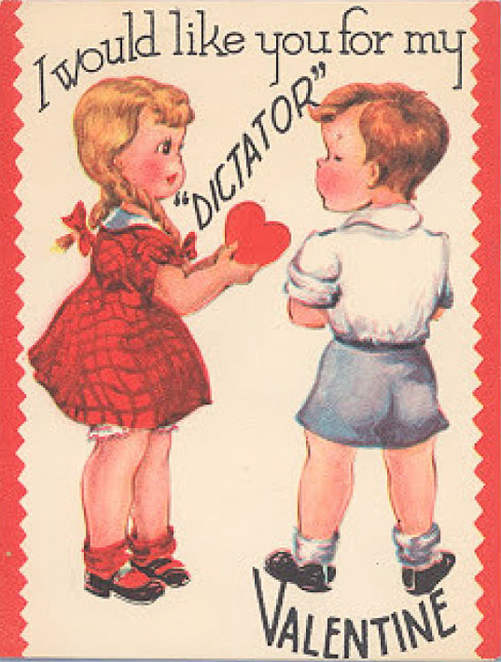 ... Vintage Creepy Valentines Day Cards Dictator ...