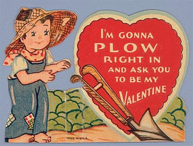 Außergewöhnlich ... Vintage Creepy Valentines Day Cards Plow In ...