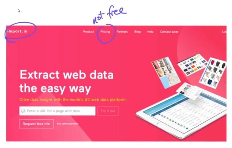 Scraping Data Software