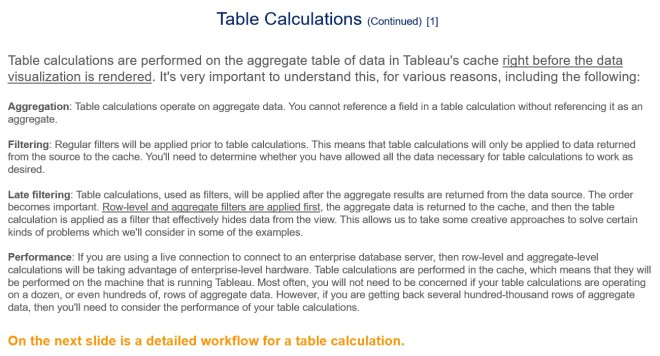 Table Calculations - Slide 2