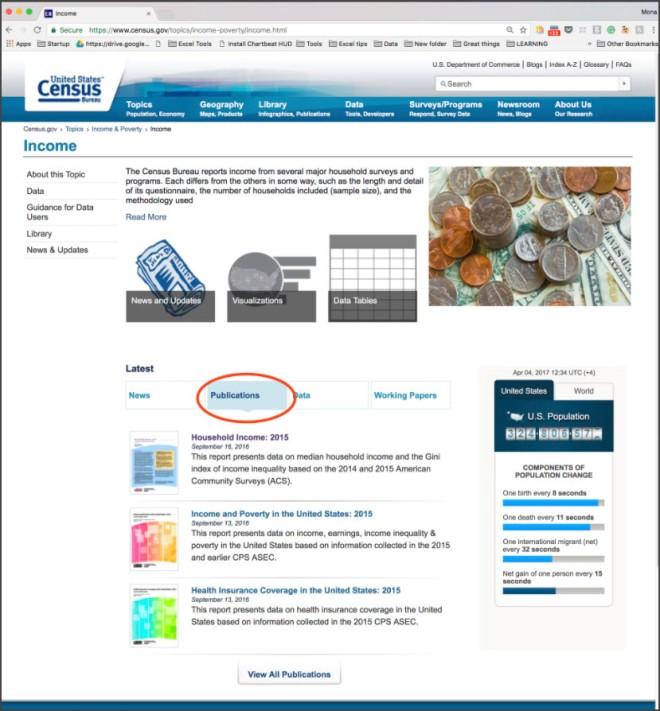 Census Bureau Search