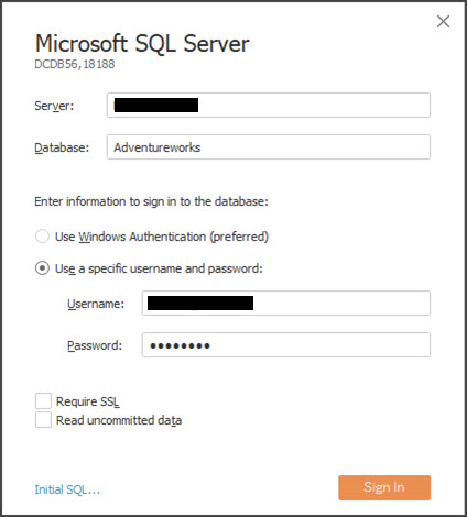 Extract Data Source Login