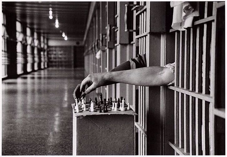 Attica Inmates Playing Chess