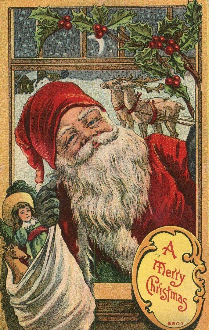 DataViz as Art: 25 Vintage Santa Claus Post Cards