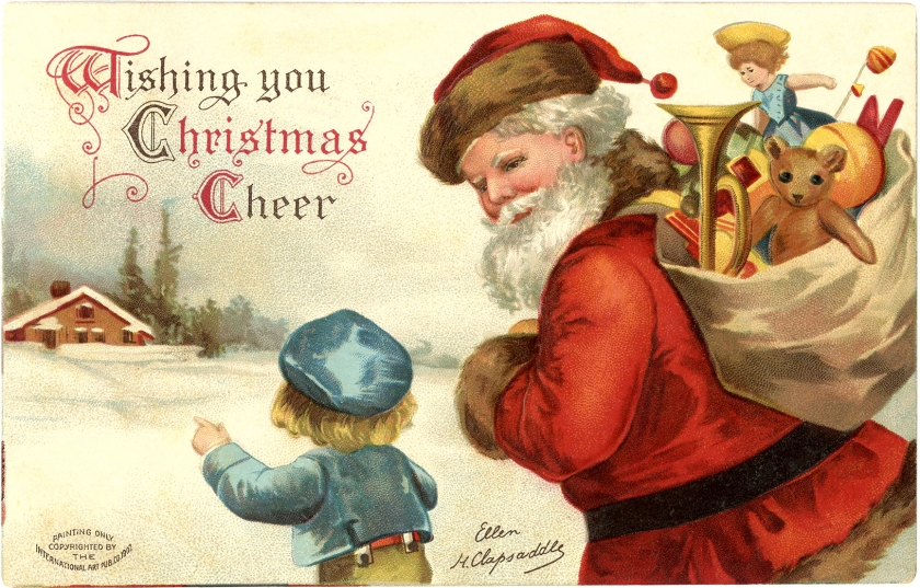 Jolly-Vintage-Santa-Postcard