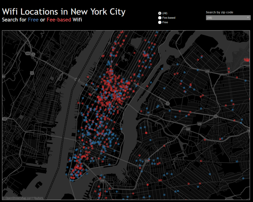 WiFi Locations in New York City