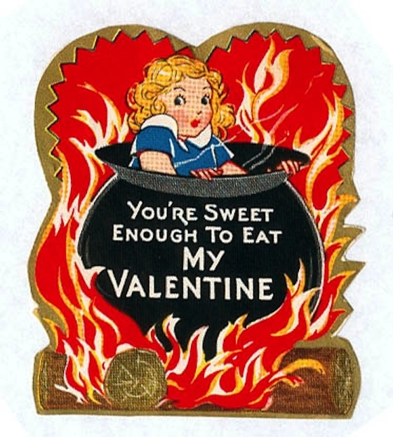 Vintage-Valentines-Day-Cards-Youre-Sweet-Enough-to-Eat