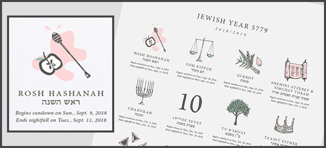 Infographic: Hebrew Calendar 5779 | Michael Sandberg's Data