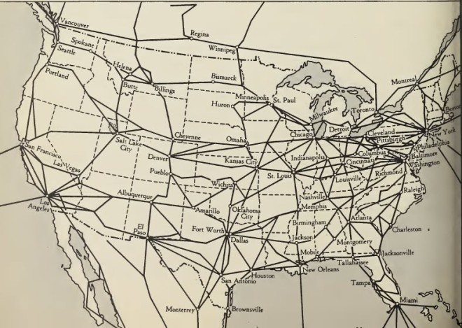 Commercial Air Routes US