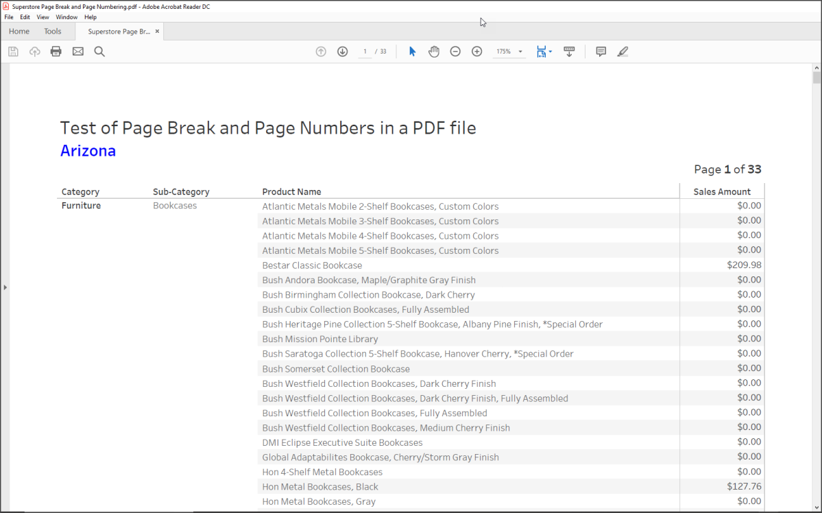 Tableau Deep Dive: Adding Page Breaks and Page Numbers in a